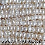 3523 center drilled pearl 3-3.5mm white color
