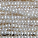 3525 near round potato pearl 2.5-3mm white color