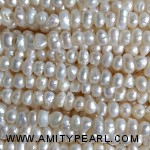 7264 center drilled pearl 3.5-4mm white color