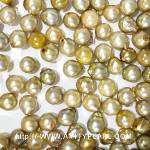 6216 saltwater half-drilled pearl about 5-6mm green gold color.jpg